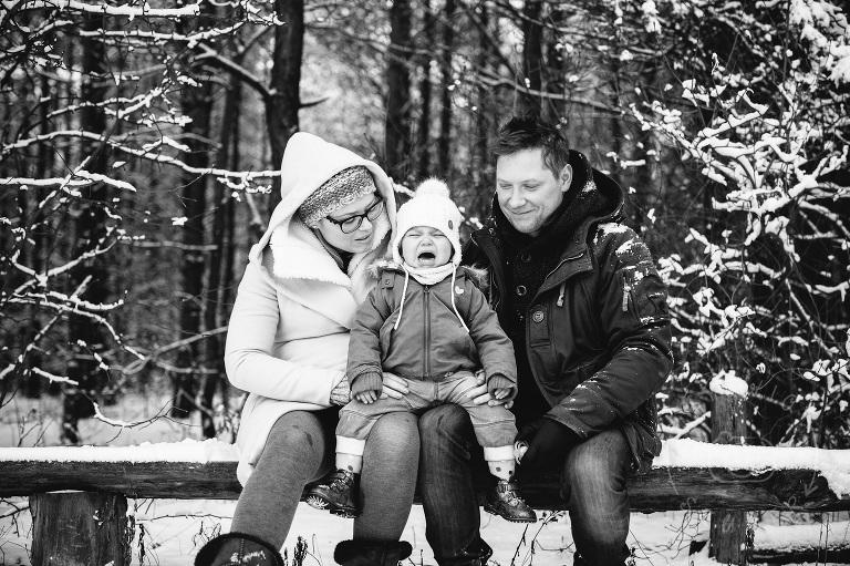 zimowa fotografia rodzinna Warszawa