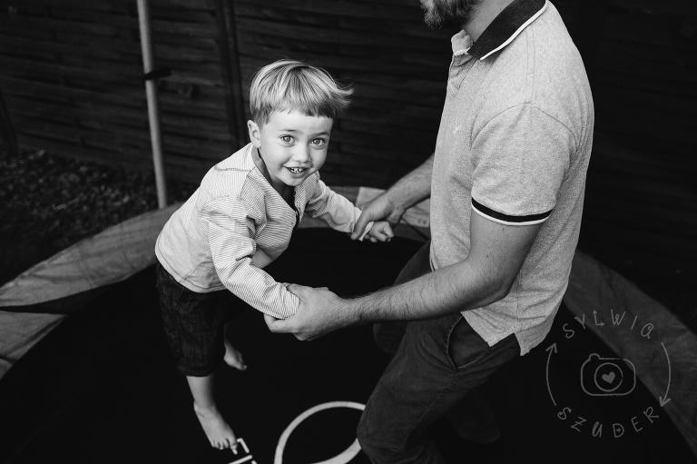 zdjęcia dzieci Warszawa trampolina