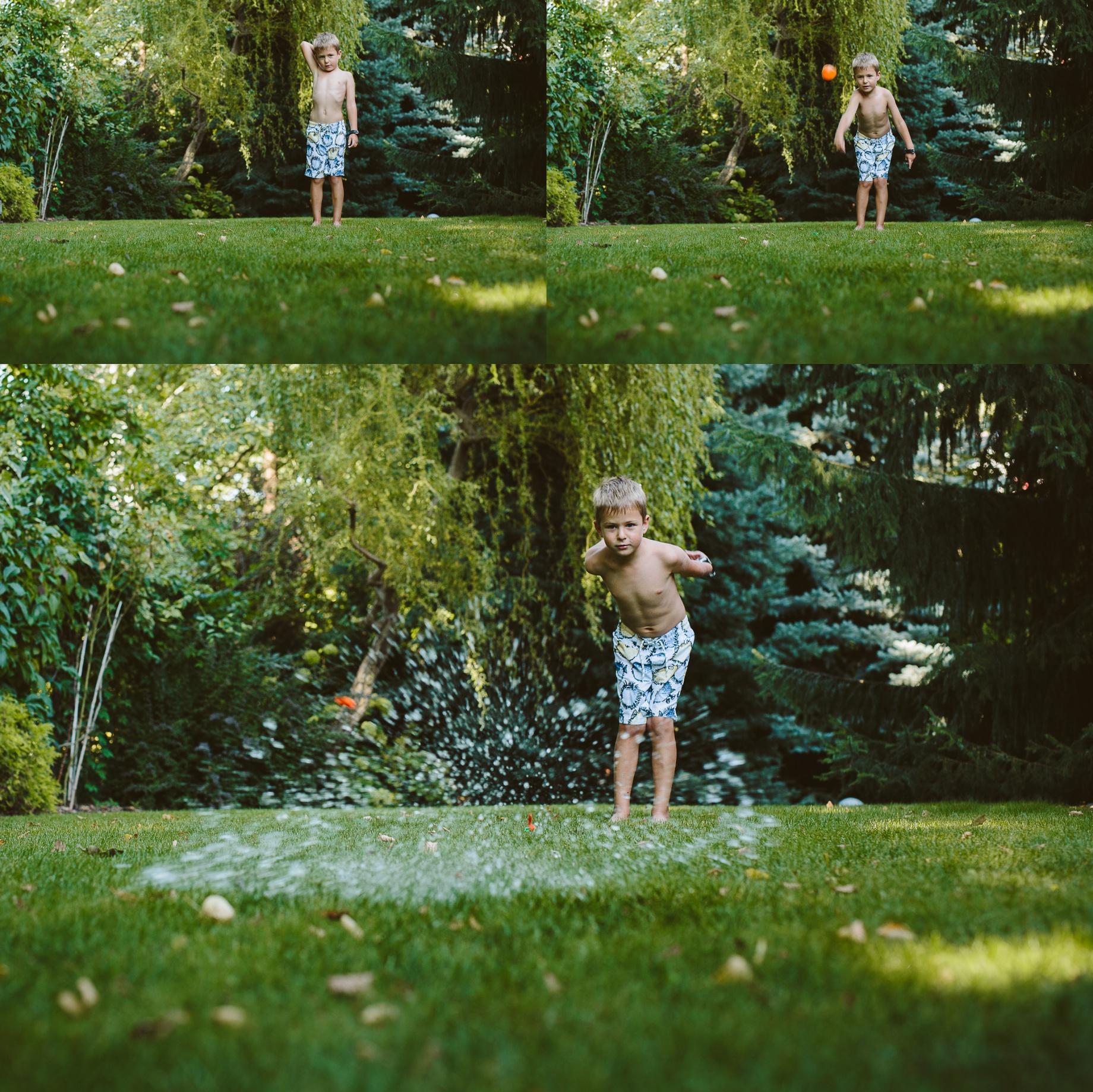 zdjęcia dzieci balony wodne
