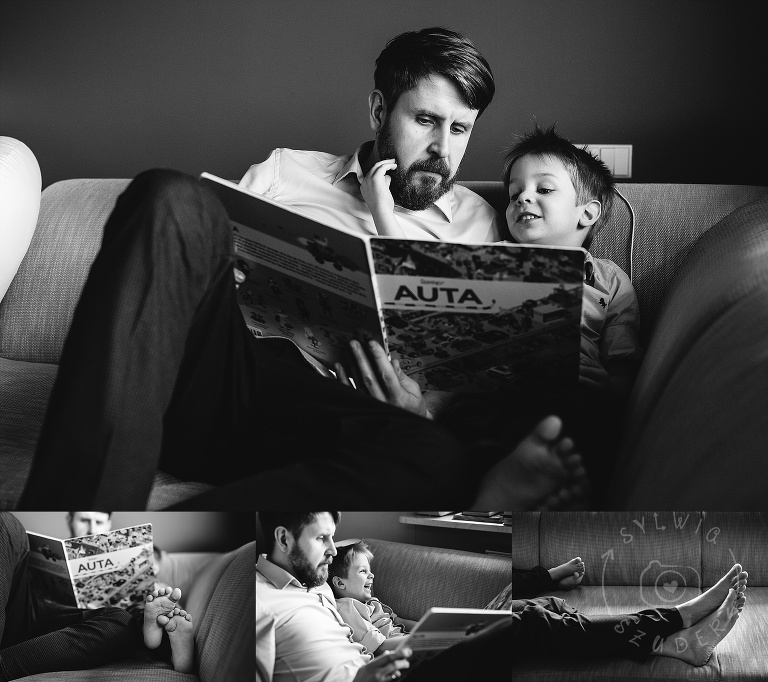 sesja rodzinna w domu lifestyle