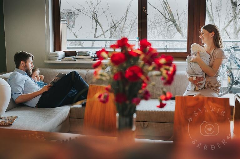 sesja noworodkowa w domu lifestyle