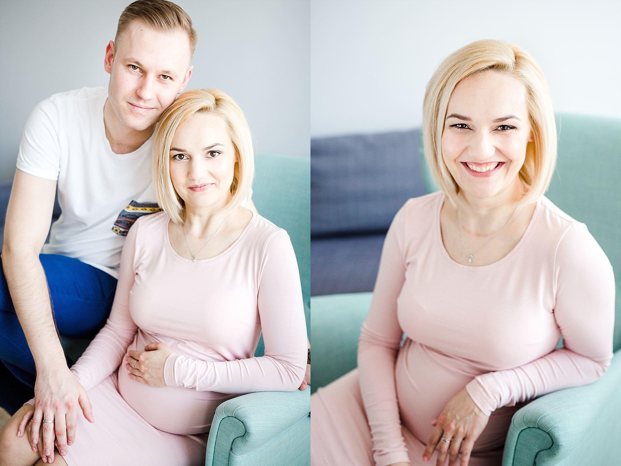 portret młodego małżeństwa spodziewającego się dziecka