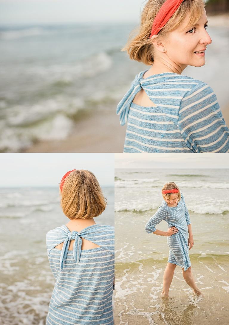 sesja portretowa na plaży